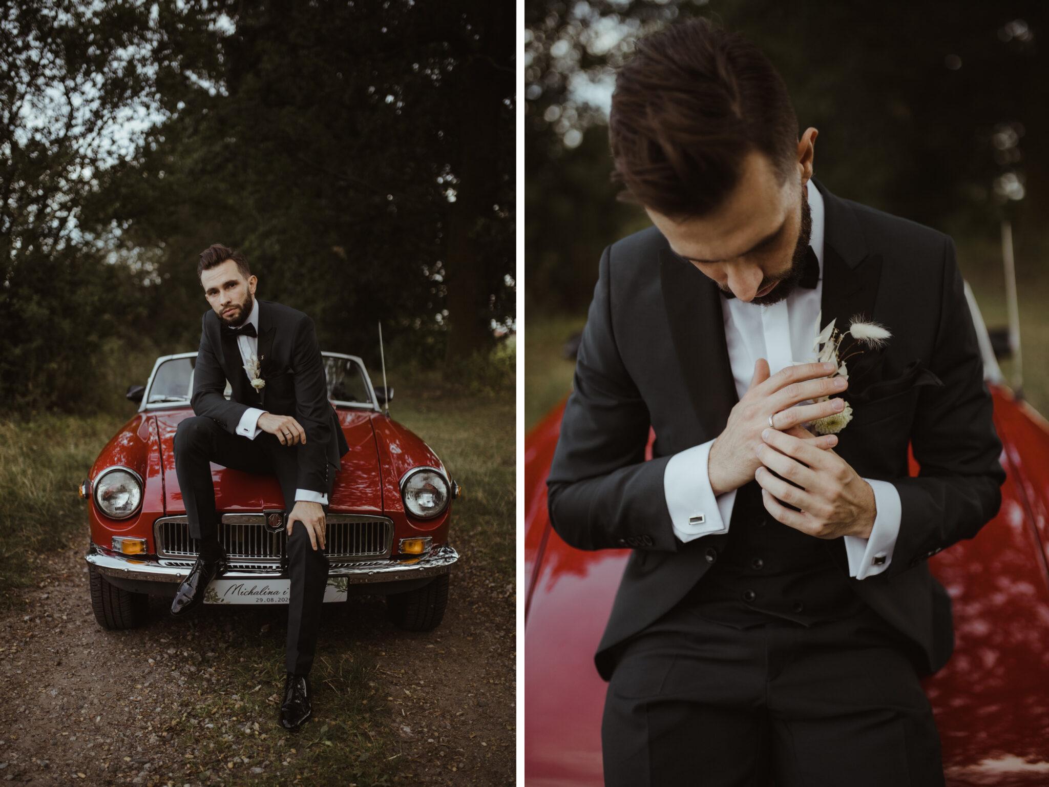pan młody portret fotograf ślubny wesele rezydencja solei poznań