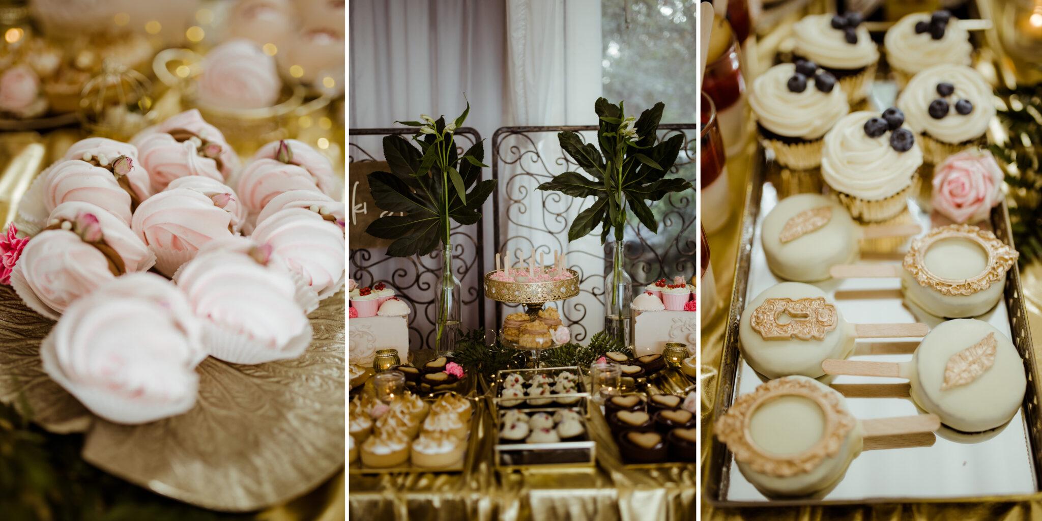 bezy słodycze wesele cukiernia cupcake boho